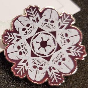2/$18 Disney Parks Star Wars Snowflakes Vader Pin